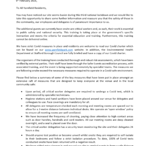 Yarnfield Park Letter to residents